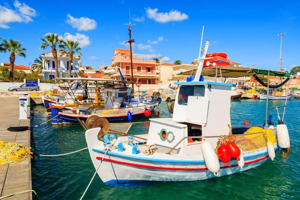 Fischerboote auf Lixouri, Kefalonia