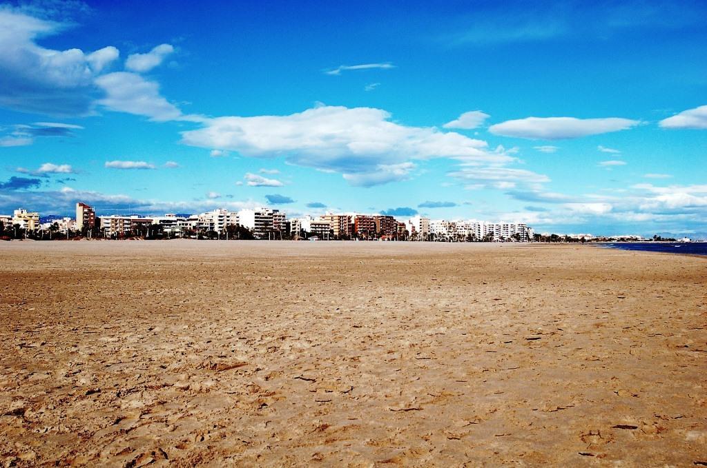 Strand in Valencia