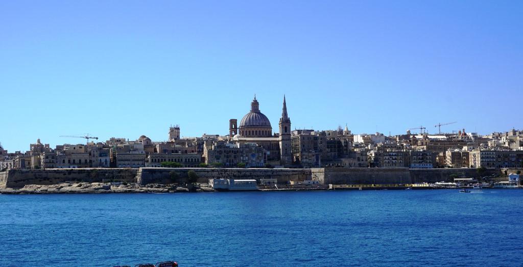Blick auf Sliema in Malta