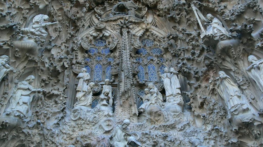 Die Geburtsfassade der Sagrada Familia in Barcelona