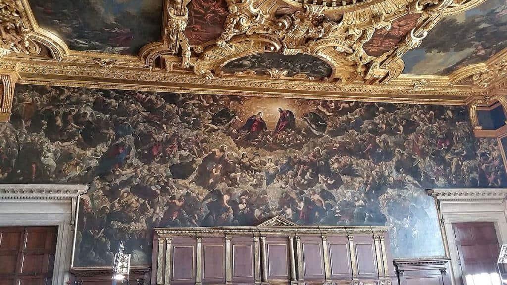 Das Paradies im Großen Saal im Dogenpalast von Venedig